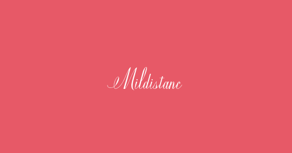 Mildistance font thumb