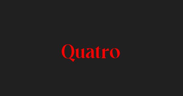 Quatro font thumb
