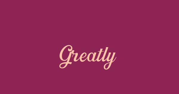 Greatly font thumb