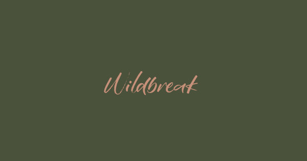 Wildbreak font thumb