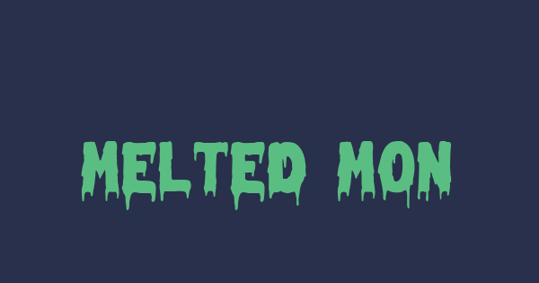 Melted Monster font thumb