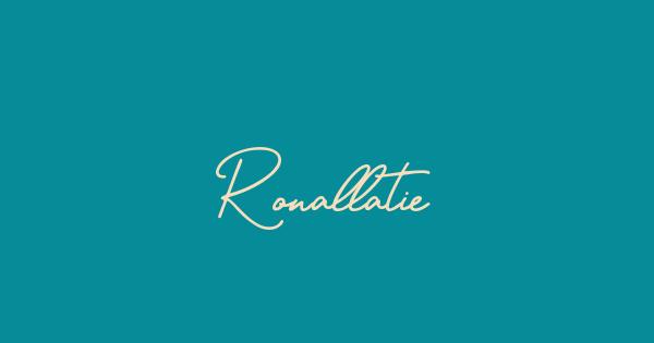 Ronallatie font thumbnail