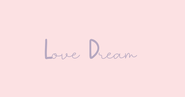 Love Dream font thumb