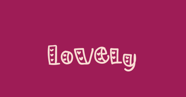 Lovely font thumb