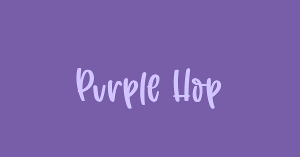 Purple Hope font thumb