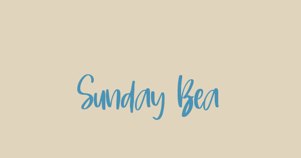 Sunday Beach font thumb