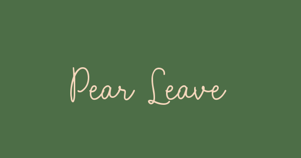 Pear Leaves font thumb