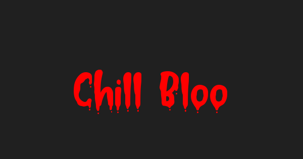 Chill Blood font thumb