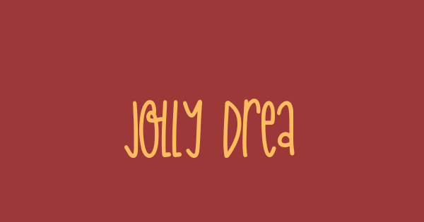 Jolly Dream font thumb