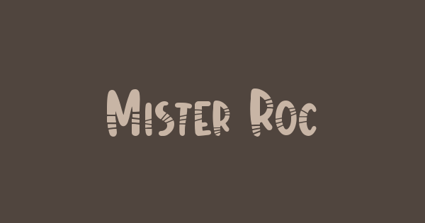 Mister Rocky font thumb