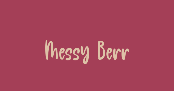 Messy Berry font thumb