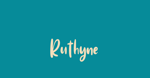 Ruthyne font thumb