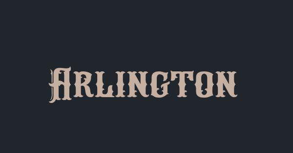 Arlington font thumb