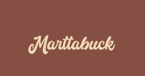 Marttabuck font thumb