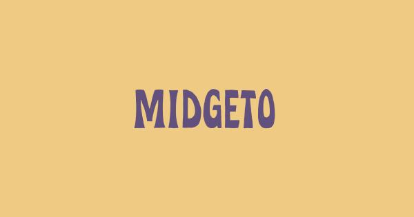 Midgeto font thumb