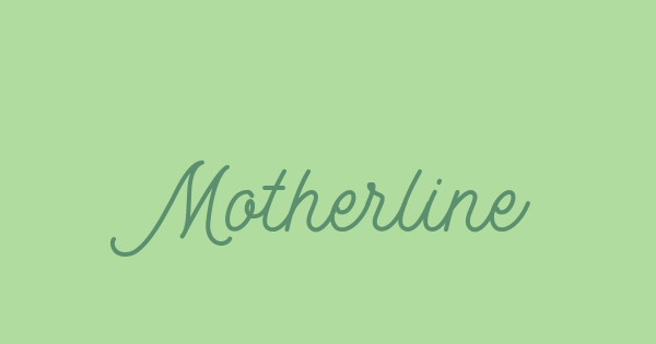 Motherline font thumb