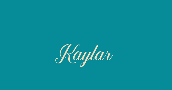 Kaylar font thumb