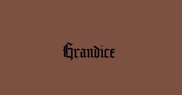 Grandice font thumb
