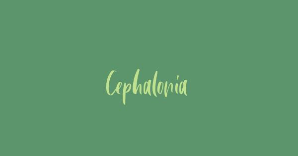 Cephalonia font thumb