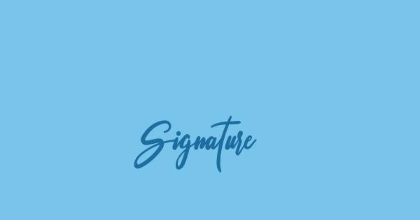 Signature font thumbnail