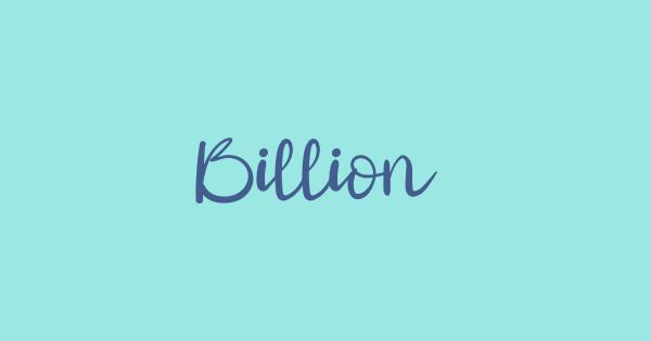 Billion font thumbnail