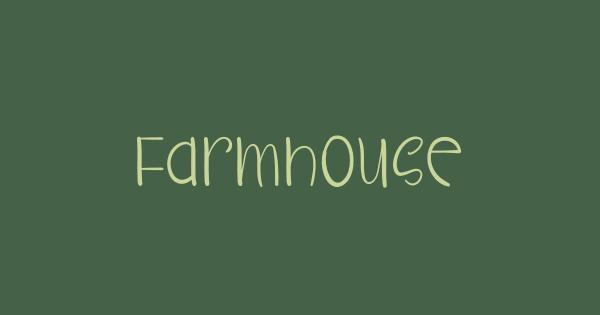 Farmhouse font thumbnail