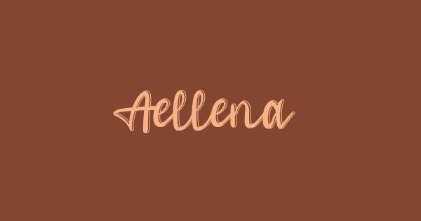 Aellena font thumbnail