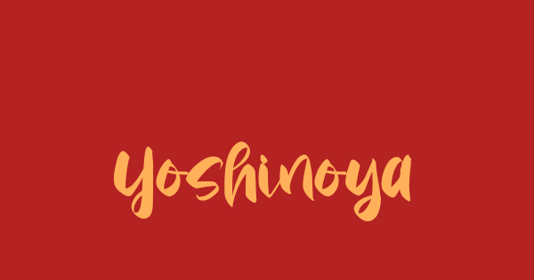 Yoshinoya font thumb