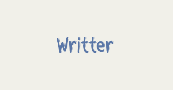 Writter font thumb
