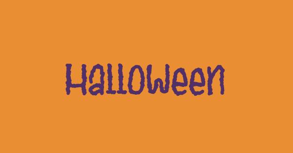Halloween font thumb