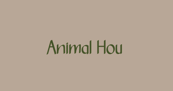 Animal House font thumb