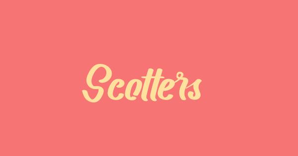 Scotters font thumb
