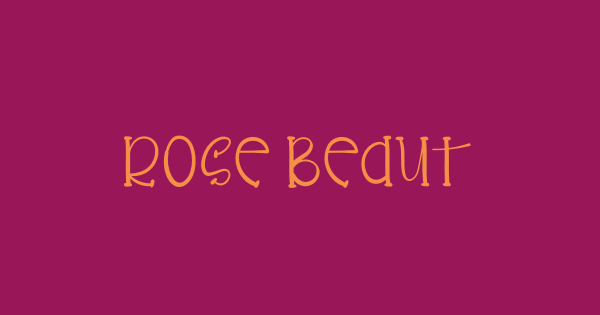 Rose Beauty font thumb