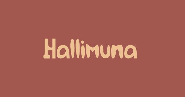 Hallimuna font thumb