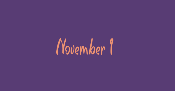 November Is Cheerful font thumb