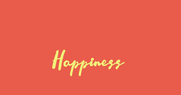 Happiness font thumb