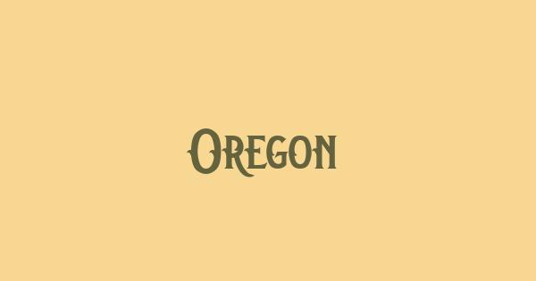 Oregon font thumb