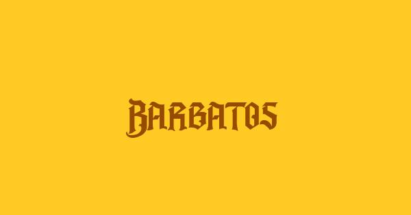 Barbatos font thumb