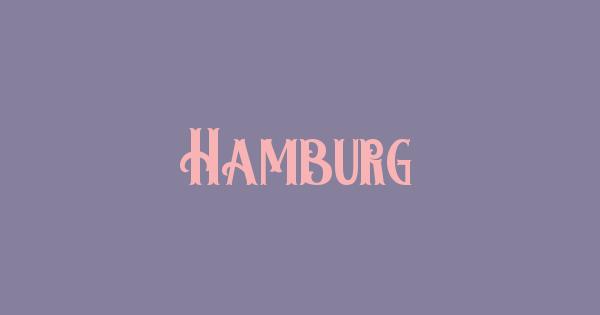 Hamburg font thumb
