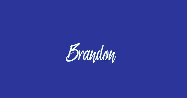 Brandon font thumb