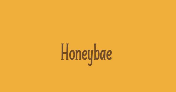 Honeybae font thumb
