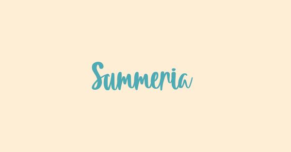 Summeria font thumb