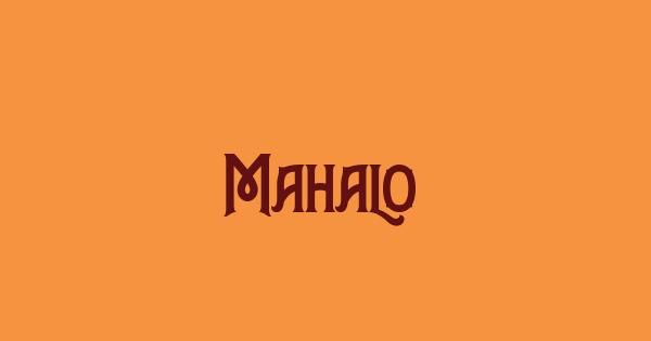 Mahalo font thumbnail
