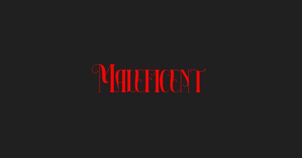 Maleficent font thumb