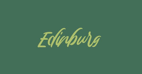 Edinburg font thumb