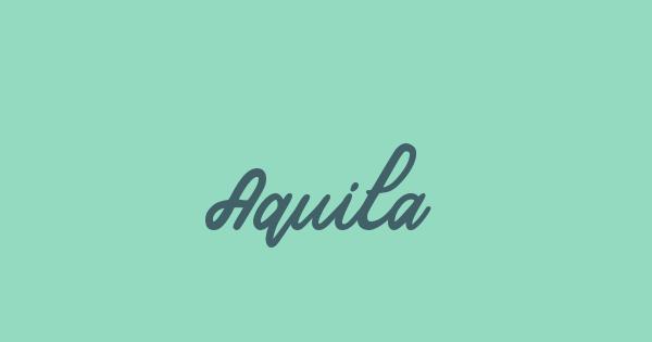 Aquila font thumb