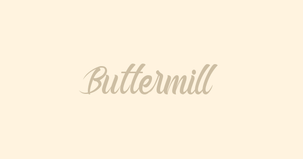 Buttermill font thumb