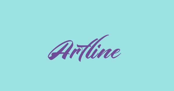 Artline font thumb
