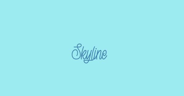 Skyline font thumb