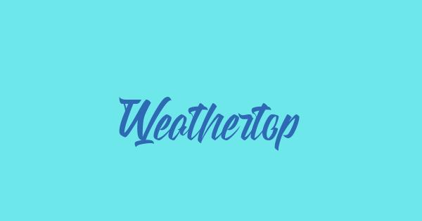 Weathertop font thumb